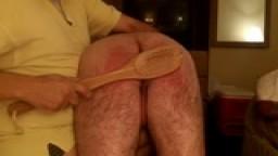 bath brush spanking on vacation
