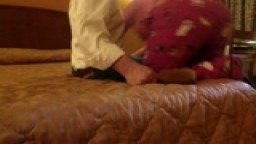 Kate's PJ Hairbrush Spanking