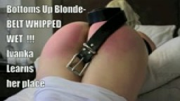 Russian Mail Order Bride- Bottoms Up Blonde- Wet Bottom OTK Spanking and Belt Whipping