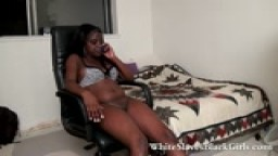 White submissive licking black femdom cunt