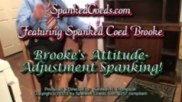 Brooke's Attitude-Adjustment Spanking