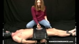 Fully Clothed Femdom Milking Cock