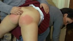 Jasmine's Wet Bottom - Spanked School Girl