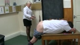 Headmistress Lady Linda punishes a pupil