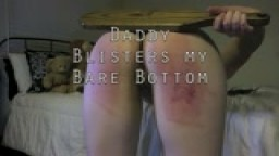 Daddy Beats the Tar out of Me - Nude Frat Paddling to Blisters