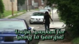 Daija Spanked for Going to Georgia