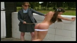 Outdoor Spanking - Caned Angel
