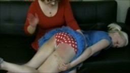 Little Stevie Rose's OTK Spanking & Bent Over Belting from Mommy for Misbehaving at Church