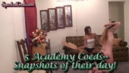 5 Academy Coeds -- Snapshots of Their Day