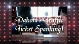 Dakota's Traffic Ticket Spanking!