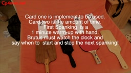 Brutus Plays The Spanking Game