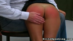 Student is given an OTK Hand Spanking - Elite