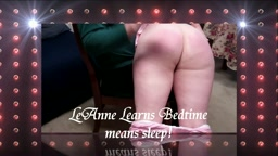 LeAnne, Bed time means sleep!
