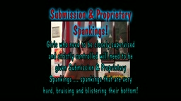 Sadie's Submission Spanking