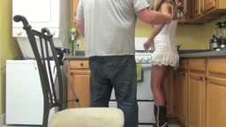 Sarah Jain Spanked in the Kitchen