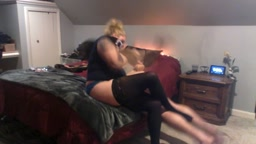 Miss Rose gives a hard hairbrush spanking to a bad boy!