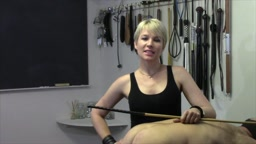 The Strafkamer 777 - Mistress Baton's Rohrstock Test