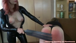 Spanked By Lady Darion!