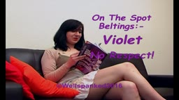 On the Spot Beltings - Violet - No Respect!