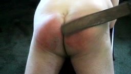 spankablebutt and the Texas Prison Strap  - prison strap