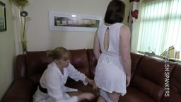 Naughty nurse caned