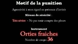 Nettles spanking -  La fessée aux orties (extrait)