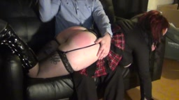 New Zealand Goth Girl Spanked!
