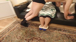 Apron spanking!