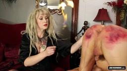 Mistress Devlynn DeSade & Julie Simone Double Team a Slave