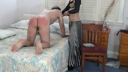 Wife Spanks Hard Part 3