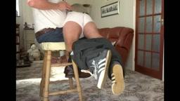 Uncle spanks naughty nephew