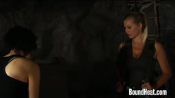 Abducted Handcuffed Girls Whipped By Madame from BoundHeat