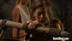 Enslaved Lesbian Girls Getting Whipped While Working...BoundHeat