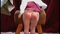 Tight Bare Bottom Slippered And  Caned