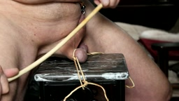 40 days of Lenten fun – day 28 – caning and paddling the right testicle (ball)