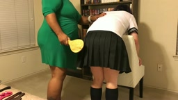 Ping Pong Paddled for Wrinkled Clothes - Nanny Spanking 1/3