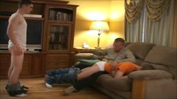 Watching dad spank my brother