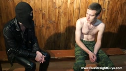 Soldier Nikitych 19 y.o. Interview and Hand spanking. Russian home punishments series.