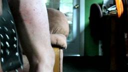 studded leather belt - extreme self punishment