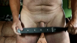 the stud collection - leather paddle with studs