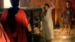 A Roman slavegirl whipped