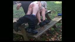 SPANKING CAMP 2 OVER THE PICNIC TABLE
