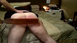 Real punishment - paddled for Texting while driving - video clip 4 -