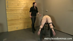 Caned For His Crimes - No Mercy for Slave from Goddess