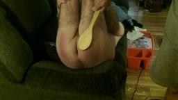LEGS UP SPANKING