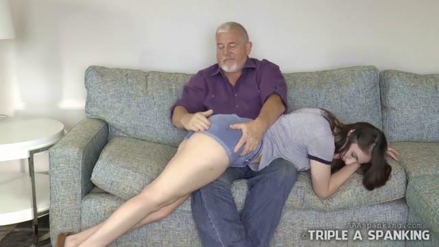 Uncle spanks niece