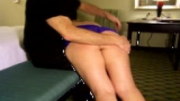 Spanked Over Knee In Lingere