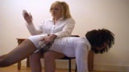 Strict Head Girls - Lucy spanks Claire - from Wellspanked