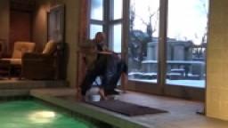 Pool Side spanking